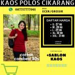 Jual Grosir Kaos Polos Cikarang, Bekasi hub 087717777061