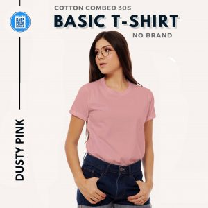 KAOS POLOS PREMIUM COTTON COMBED 30S | PINK DUSTY