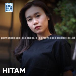 KAOS POLOS PREMIUM COTTON COMBED 30S | HITAM