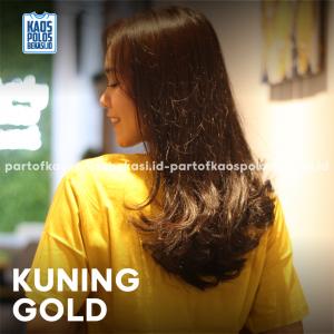 KAOS POLOS PREMIUM COTTON COMBED 30S | KUNING GOLD