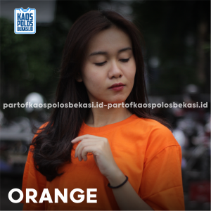 KAOS POLOS PREMIUM COTTON COMBED 30S | ORANGE