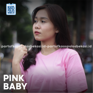 KAOS POLOS PREMIUM COTTON COMBED 30S | PINK BABY