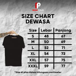 Kaos Polos Bekasi ID - Size Chart