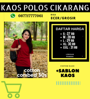 Harga Sablon Kaos Cikarang hub 087717777061