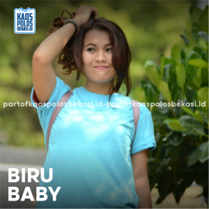 KAOS POLOS PREMIUM COTTON COMBED 30S | BIRU BABY